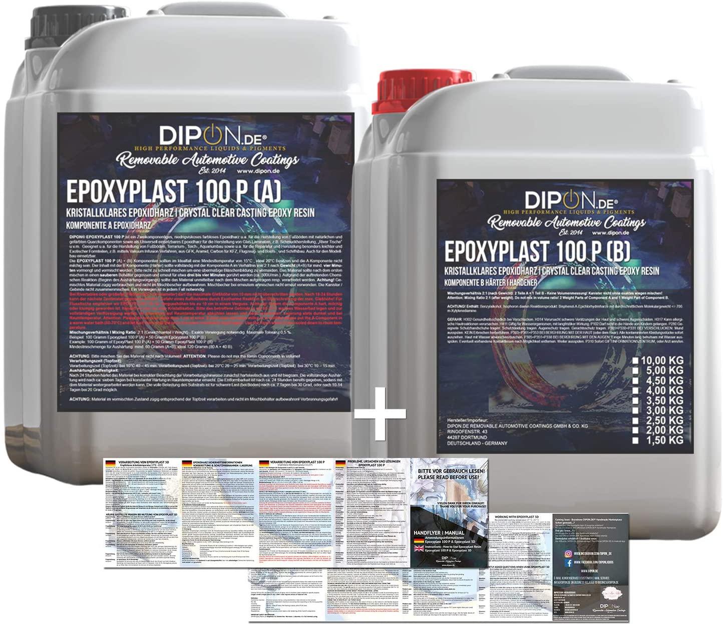 Epoxidharz 2K EpoxyPlast 100P Holz Glasklar review