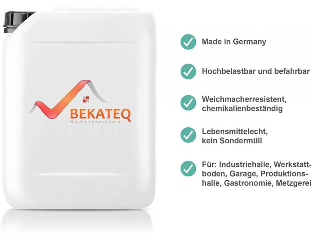 Vor- und Nachteile BEKATEQ epoxy resin floor coating