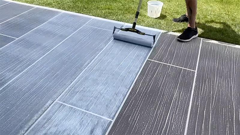 Hinweise für die Bearbeitung der Terrasse mit Epoxidharz