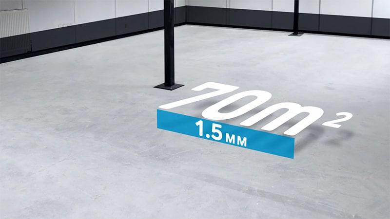 Die Schichtstärke für die Vorbeschichtung soll mindestens 1,5 mm betragen